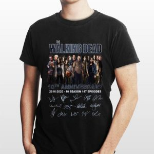 The Walking Dead 10th Anniversary Signatures sweater