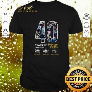 Top 40 years of 1980-2020 Depeche Mode signatures shirt