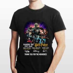 23 Years Of Harry Potter Thank You For The Memories Signatures shirt