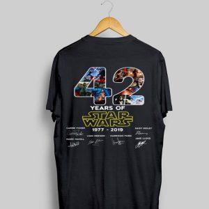 42 years of Star Wars 1977-2019 signatures shirt