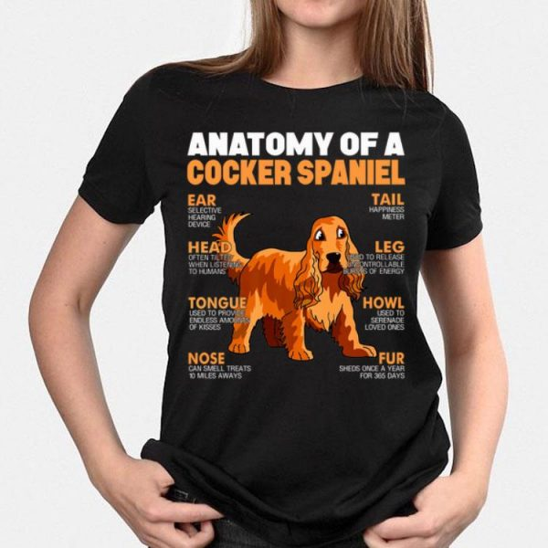 Anatomy Of A Cocker Spaniel The Function Of Dog's Part shirt