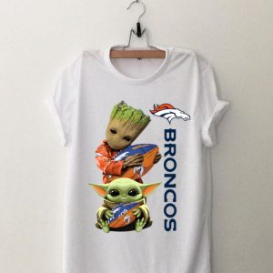 Baby Groot And Baby Yoda Hug Broncos shirt