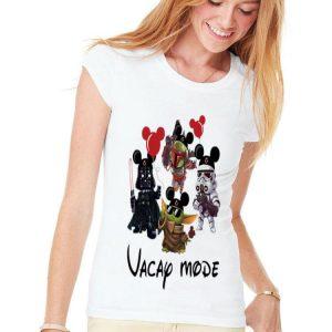Baby Yoda Darth Vader Boba Frick Stormtrooper Vacay Mode shirt