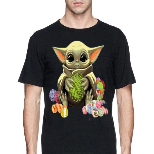 Baby Yoda Hug Wool Rolls shirt