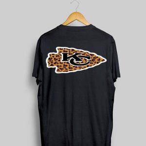 Kansas City Chiefs logo leopard shirt