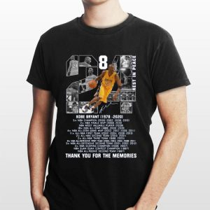 Kobe Bryant 1978 2020 Thank You For The Memories Signature shirt