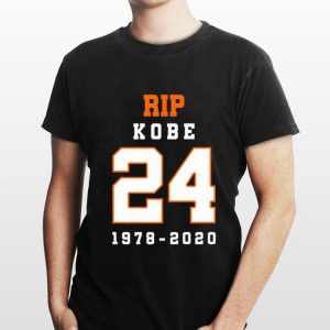 Rip Kobe Bryant 24 Memorial Rest In Peace shirt
