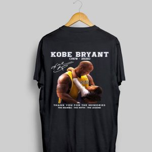 Rip kobe bryant and gigi Thank You For The Memories The Mamba The Myth The Legend Signature shirt