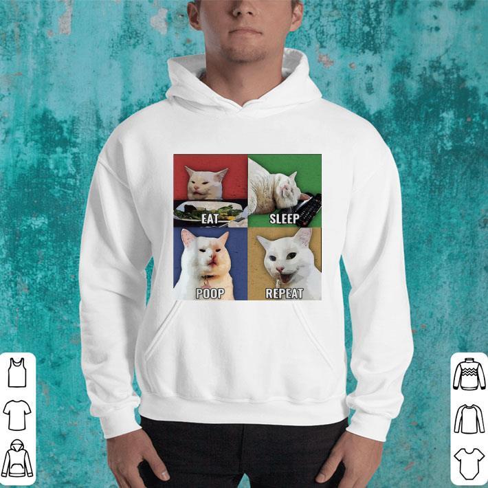 Smudge Cat meme eat sleep poop repeat shirt 4 - Smudge Cat meme eat sleep poop repeat shirt