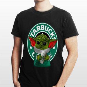 Star Wars Baby Yoda Hug Starbuck Coffee shirt