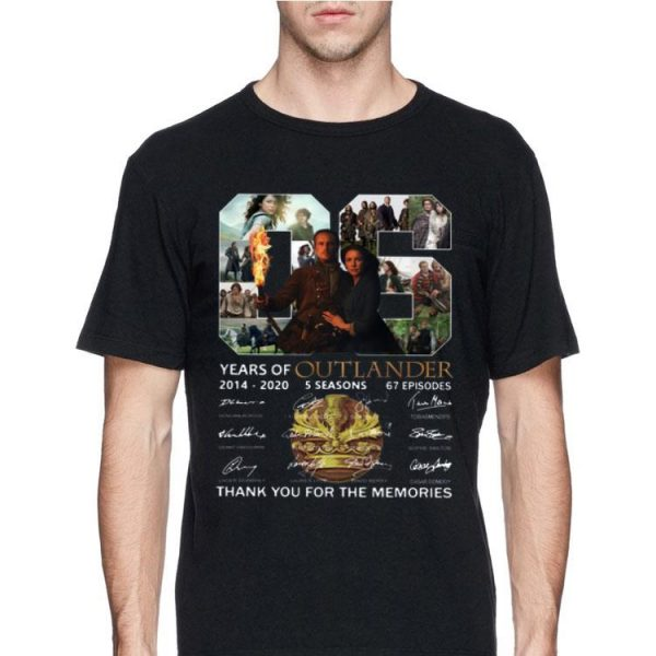 06 Years of Outlander 2014 -2020 Thank You For The Memories Signature shirt