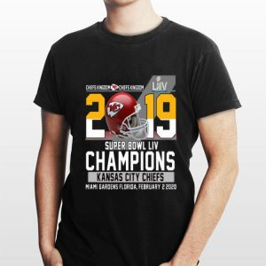 2019 Super Bowl LIV Champions Kansas City Chiefs Miami Gardens Florida February 2 2020 shirt