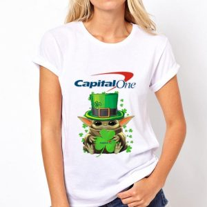 Baby Yoda Capital One Shamrock St.Patrick's Day shirt