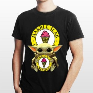 Baby Yoda Hug Marble Slab Creamery shirt