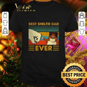 Hot Best Sheltie dad ever vintage shirt
