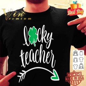 Lucky Teacher St Patricks Day Teachers Green Shamrock shirt