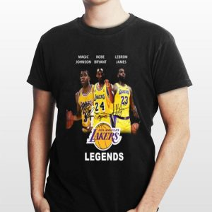Magic Johnson Kobe Bryant Lebron James Los Angeles Lakers legends shirt