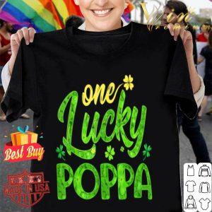 One Lucky Poppa Shamrock Grandpa St Patricks Day shirt