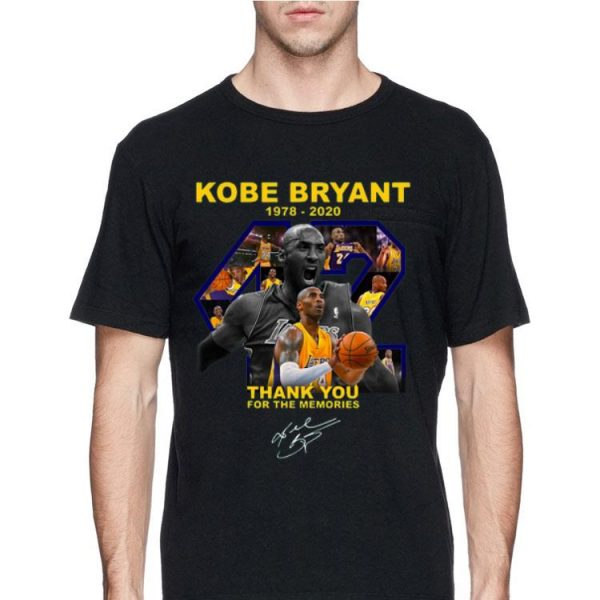 Rip Kobe Bryant Thank You For The Memories Signature shirt