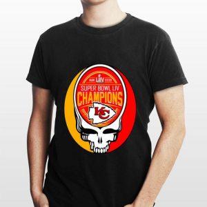 Skull Kansas City Chiefs Super Bowl LIV Champions shirt