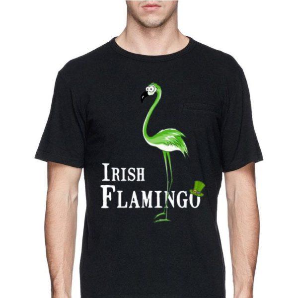 St Patrick's Day Irish Flamingo shirt