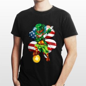 Uncle Sam Dabbing Irish America Flag St Patrick's Day shirt