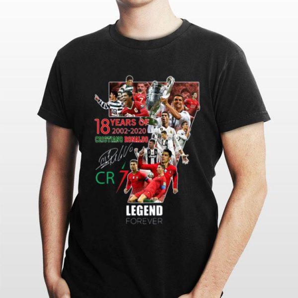 18 Years of Cristiano Ronaldo 2002 2020 legend forever signatures shirt