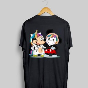 Baby Mickey Mouse And Baby Unicorn shirt