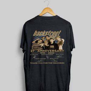 Backstreet Boys 27th anniversary thank you for the memories signatures shirt