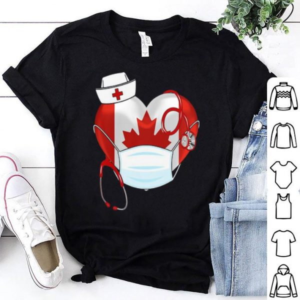 Canadian Nurse Stethoscope Heart 2020 Coronavirus shirt