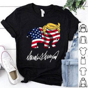 Donald Trump Elephant American Flag Signature shirt