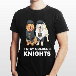 Golden Terrier Stay Golden Knights shirt