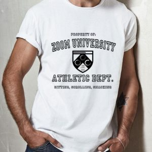 Zoom University Athletic Department Sitting Scrolling Snacking shirt