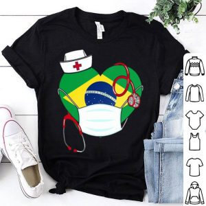 Brazil Nurse Heart Stethoscope shirt