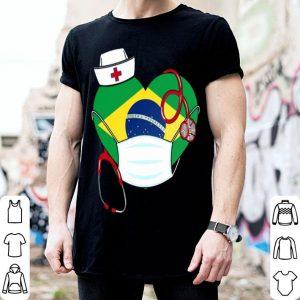 Brazil Nurse Heart Stethoscope shirt