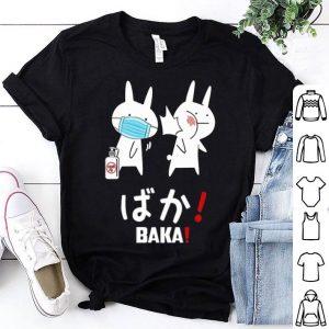 Slap Rabbit Mask Baka Japanese Coronavirus shirt