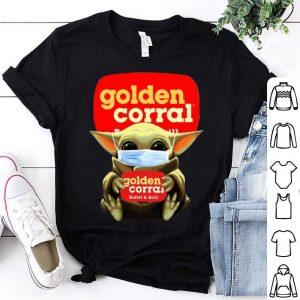 Star Wars Baby Yoda Mask Hug Golden Corral Covid-19 shirt