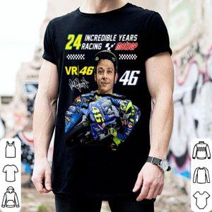 Valentino Rossi 24 Incredible Years Racing MotoGP Signature shirt