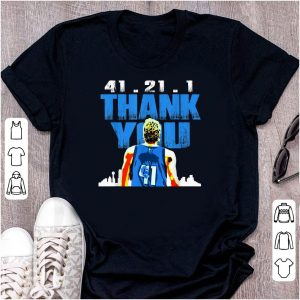 41.21.1 Thank You Retirement Basketball Art Fan shirt