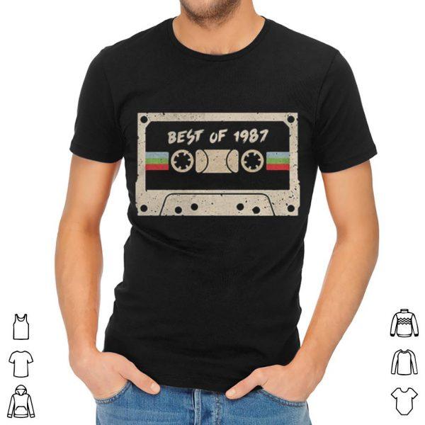 70s mix tape cassette best of 1987 shirt