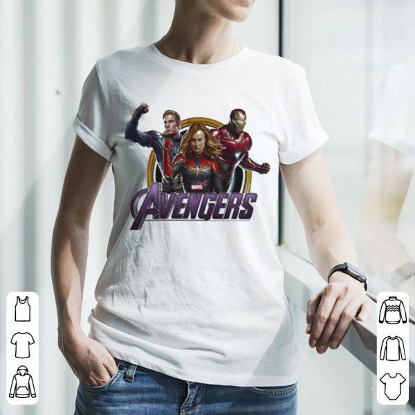 Avenger Endgame Captain Marvel Iron Man and Captain America shirt