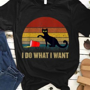 I Do What I Want Father's Day Gift Vintage Cat shirt