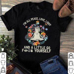 Unicorn Yoga Im All Peace Love Light And A Little Go Fuck Yourself shirt