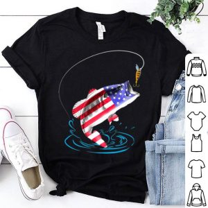 4th Of July Bass Fishing American Flag Happy Independence Day shirt