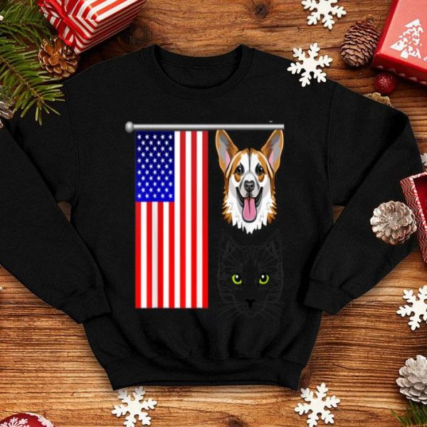 4th Of July Cat German Dog shirt