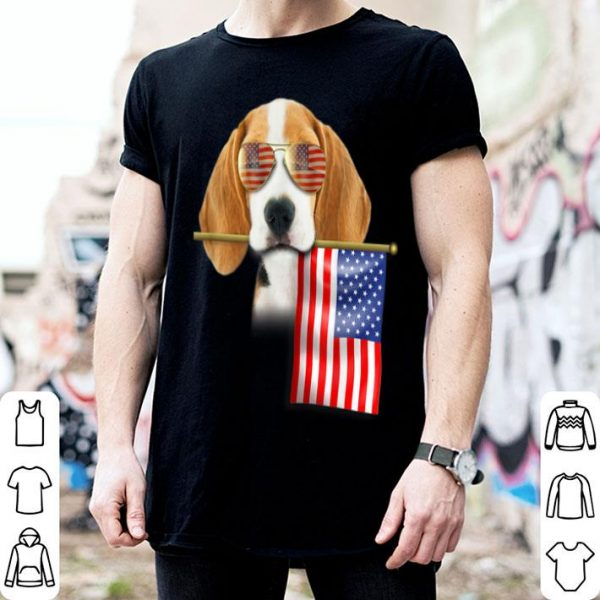 4th Of July Fun American Flag Beagle Dog Lover Gift Shirt