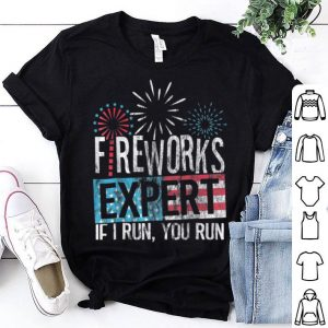 4th Of July Red White and Blue Fireworks Expert shirt