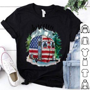 America Camping Camper American Flag - Independence Day Gift Shirt