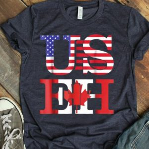 American Canadian Flags Independence Day Patriotic shirt