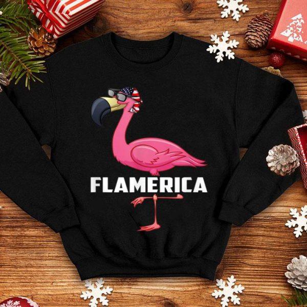 American Flag 4th of July Flamingo Flamerica shirt